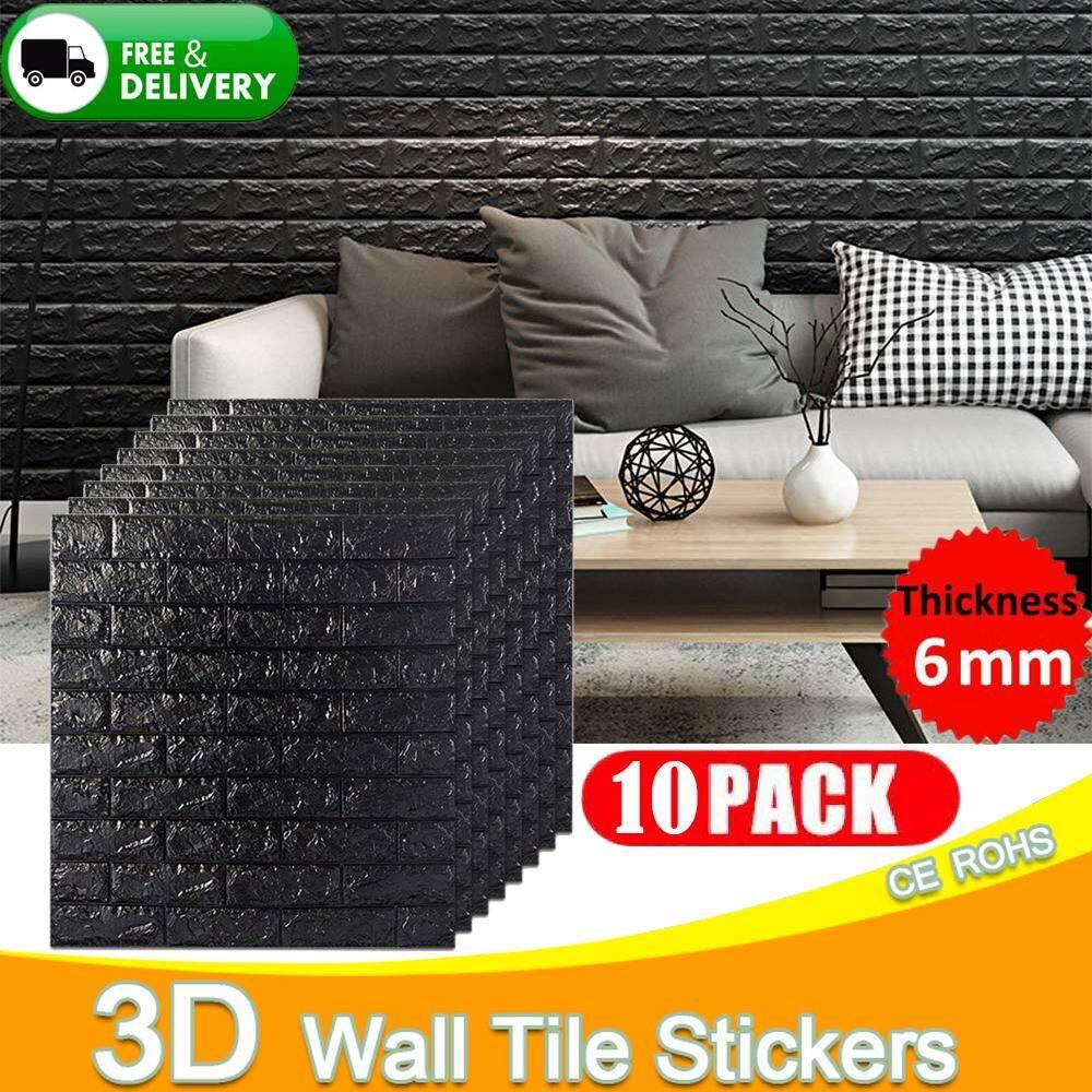 10PCS 70x77cm PE Foam Waterproof 3D Wall Stickers Home Decor Wallpaper DIY Wall Decor Brick Living Room Kids Bedroom Decorative Sticker