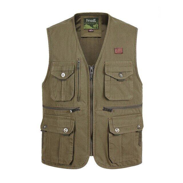 Áo Vest Mỏng Nhiều Túi, Cho Nam Giới Với Nhiều Túi Dụng Cụ Làm Việc Cho Nam Nhiếp Ảnh Thường Ngày Mùa Hè, Áo Khoác Không Tay Có Khóa Kéo Mới MSV0011