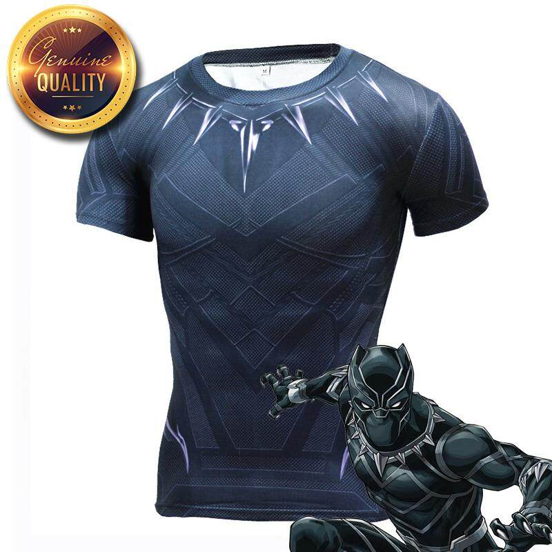 d3f97e6f Avengers Black Panther Wakanda Suit 3D Printed T shirts Super Hero  Compression Shirts Long Sleeve Short Sleeve Crossfit Tops Tees Gyms Fitness  T-shirt ...