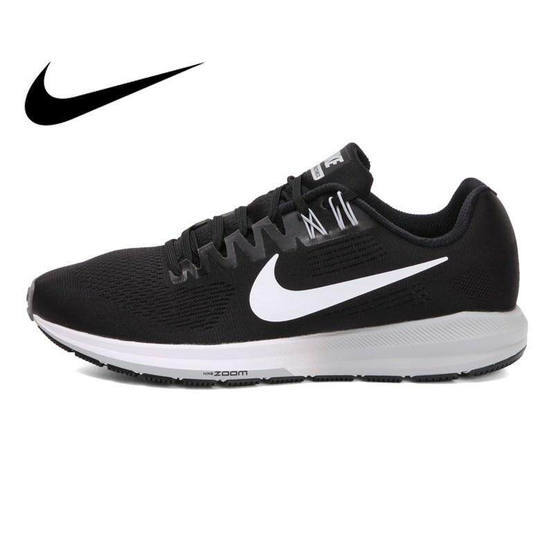 การใช้งาน  ภูเก็ต Original Nike_AIR ZOOM STRUCTURE 21 Men s Running Shoes cushioning lace-up casual jogging walking Wear resistant Sneakers 904695