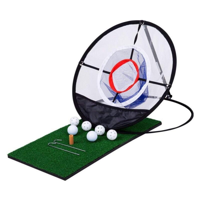 Deal Khuyến Mại Golf Chipping Lưới Luyện Tập Golf Pop-Up Trong Nhà Ngoài Trời Sứt Mẻ Lồng Thảm Thực Hành Dụng Cụ Hỗ Trợ Huấn Luyện Chơi Golf Dễ Dàng