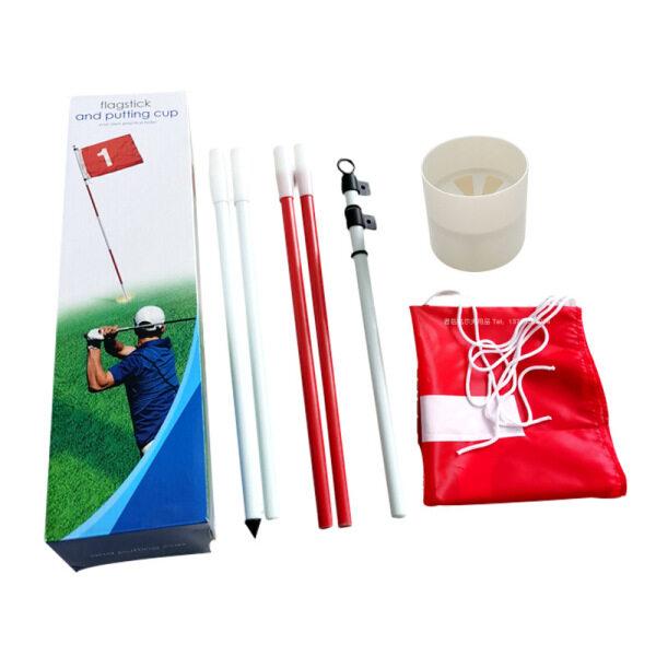 Golf Lỗ Cực Cup Cờ Stick 5 Phần Golf Đưa Màu Xanh Lá Cây Flagstick Cờ Golf Flagpole Golf Lỗ Golf Thiết Bị Đào Tạo