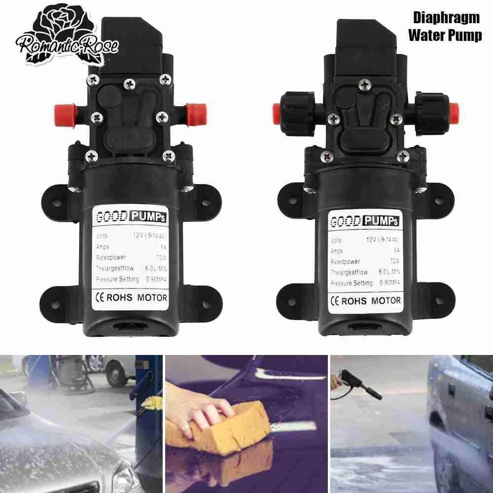 12V 130PSI 6L/Min High Pressure Diaphragm Self Priming Water Pump Caravan