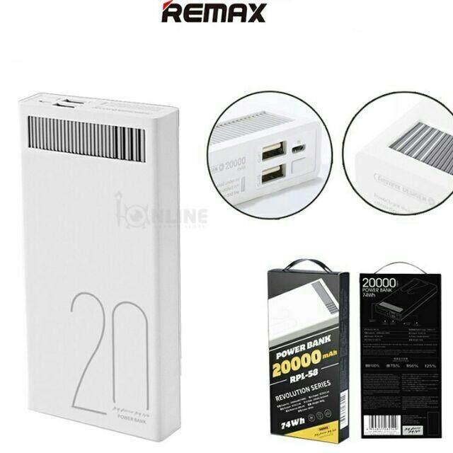 100% ORIGINAL REMAX 20000mAh Quick Charge Powerbank - RPL-58 Power Bank