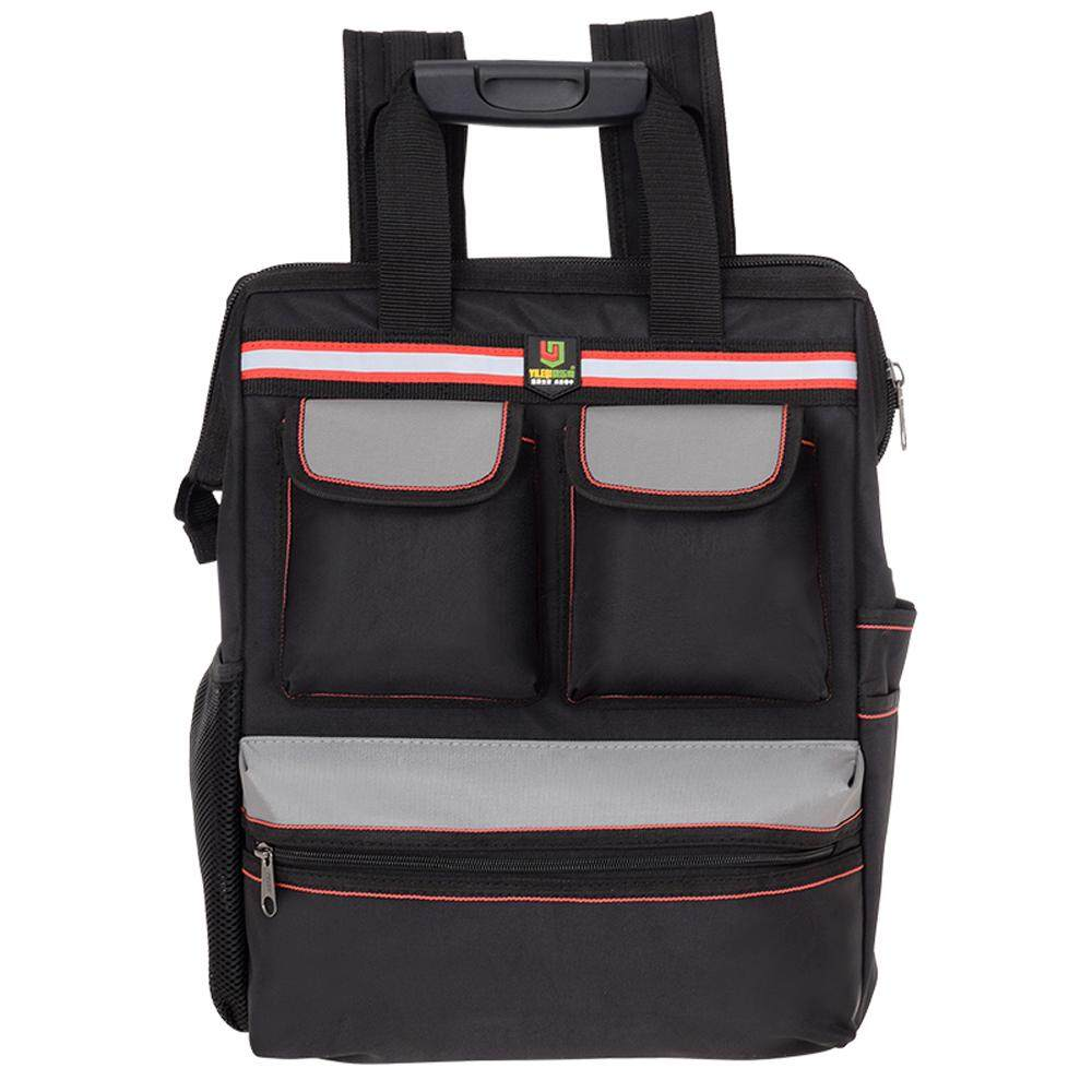 YILEQI Multifunctional Oxford Cloth Double Shoulders Tool Bag Tools Repair Storage Backpack Bags