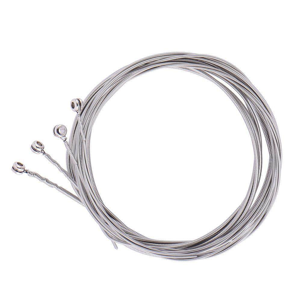 4 Pcs Stainless Steel Bass Strings Bass Guitar Parts Accessories Guitar String Silver Plated Gauge Bass Guitar Music Accessories By Dragonlee.