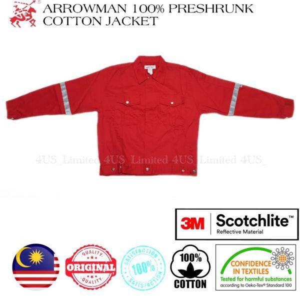 Arrowman 100% Preshrunk Cotton Red Safety Jacket