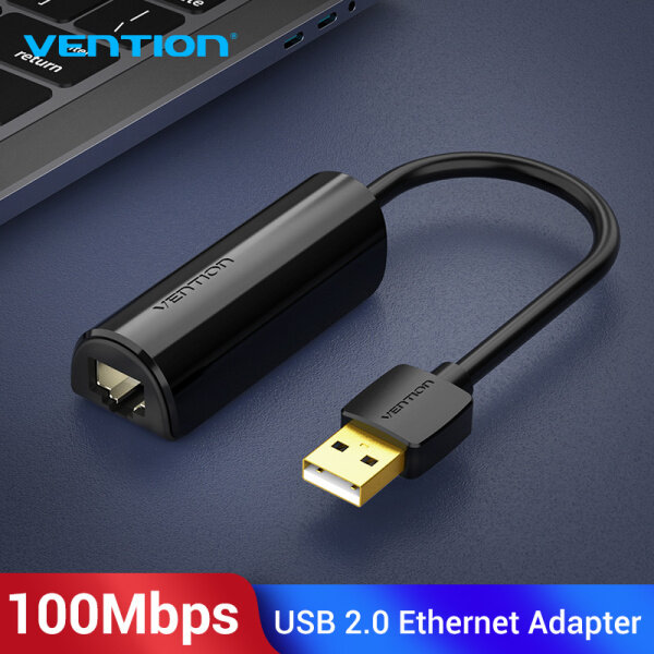 Vention USB Ethernet Adapter USB 2.0 Network Card to RJ45 Lan for Win7/Win8/Win10 Laptop Ethernet USB