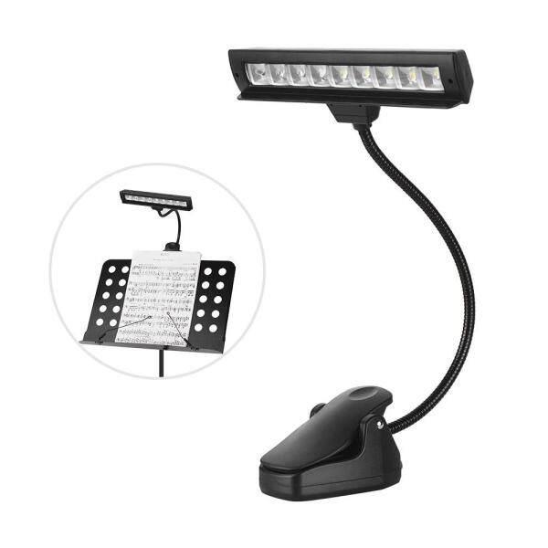Đèn LED Dàn Nhạc Clip-On Đèn Đọc Sách Có Thể Điều Chỉnh Hai Cấp Độ Với 9 Đèn LED SMD Phụ Kiện Nhạc Cụ Cắm Hoa Kỳ
