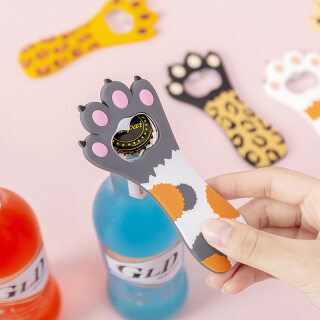 YOHOLOO Miếng Dán Tủ Lạnh Nam Châm Sáng Tạo Dụng Cụ Mở Bia, Dụng Cụ Mở Chai Hình Móng Vuốt Mèo Dễ Thương, Dụng Cụ Quầy Bar Nhà Bếp thumbnail