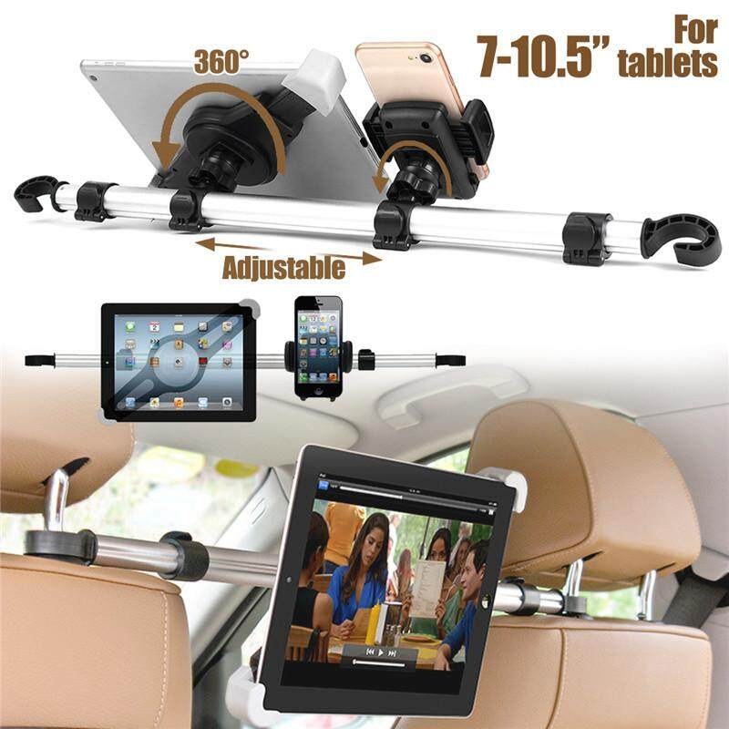 【free Shipping + Flash Deal】aluminum 360o Car Headrest Seat Holder Mount For Iphones Ipad 7-10.5 Tablets By Freebang.