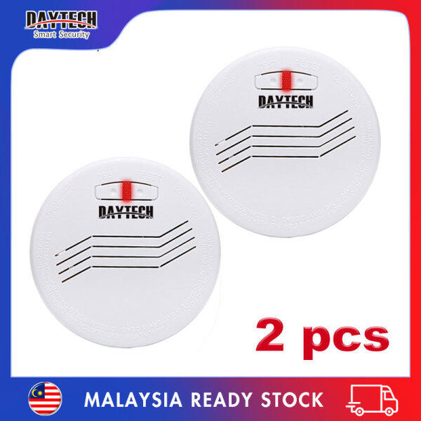 [Malaysia Ready Stock]Daytech Independent Smoke Detector 10 Years Life Battery Powered Standalone Photoelectric Smoke Sensor Alarm Security System For Home/Factory/Restaurant/Hotel 2PCS SM07