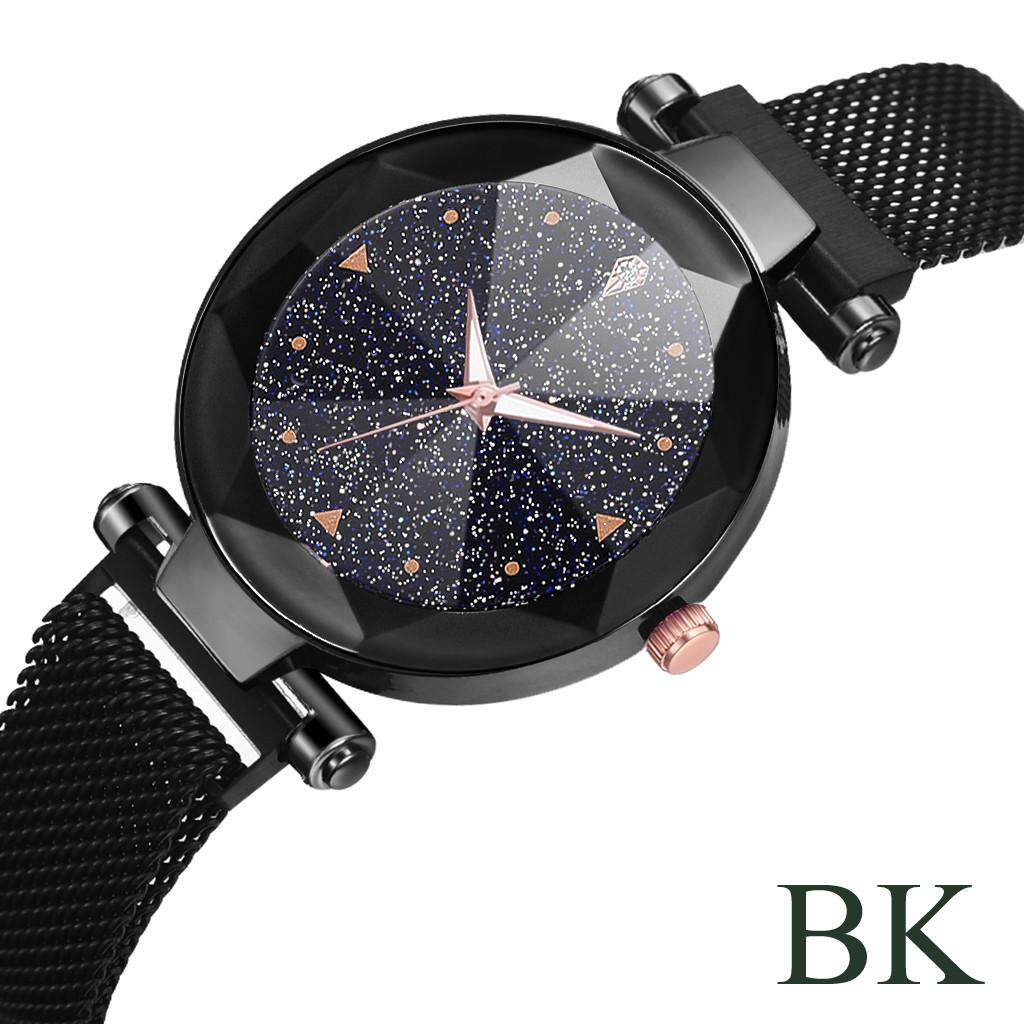 Women Fashion Watches Fashion Starry Sky Convex Glass Quartz Mesh With Magnetic Buckle Ladies Watch Malaysia