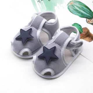 Đôi giày đế mềm màu trơn có gắn ngôi sao dành cho trẻ sơ sinh RIO MALL - INTL thumbnail