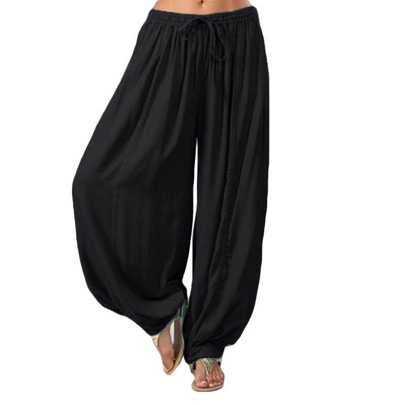 Vonda Women Lady Casual Drop Crotch Harem Long Pants Elastic Waist Loose Yoga Trousers By Vonda Official Store.