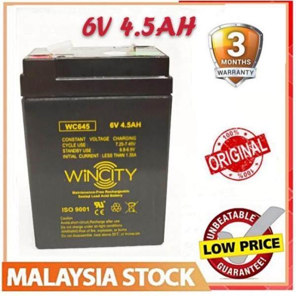 WSS Genuine Heavy Duty GPP645 6V 4.5AH Sealed Lead Acid Battery Malaysia