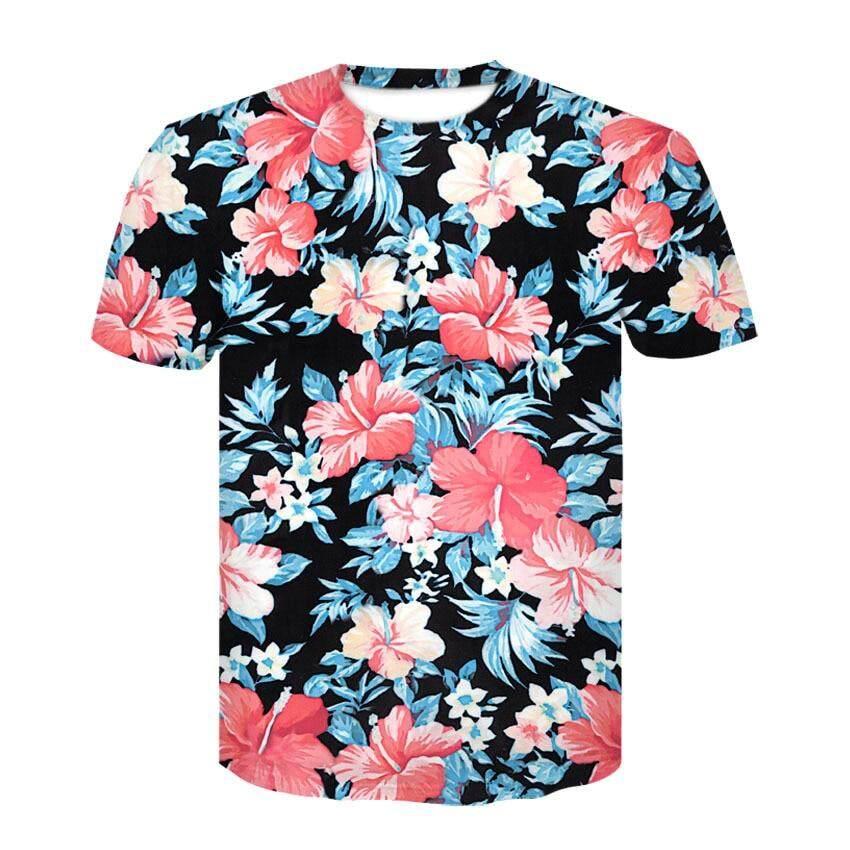 34bbc453d00 Devin Du 2019 new Beautiful Flowers Print T-shirt For Men Women Summer Tees