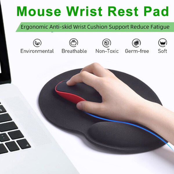 VicTsing PC237 Keyboard Wrist Rest and Mouse Pad with Wrist Support, Ergonomic Mouse Pad, Durable & Comfortable & Lightweight for Easy Typing, Pain Relief, Memory Foam Keyboard Pad Set Black