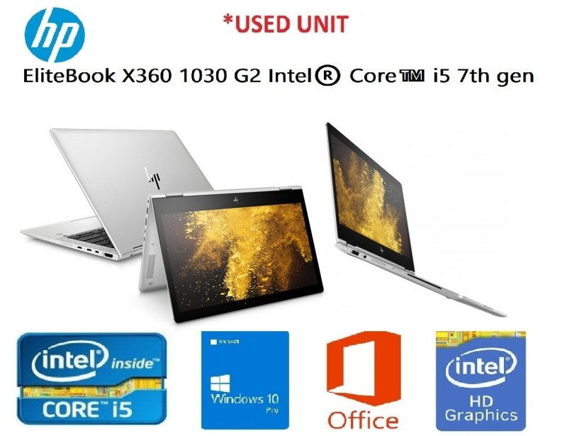 HP EliteBook X360 1030 G2 Intel®️ Core™️ i5 7th gen Processor With Keyboard (OPTIONAL FOR PEN) BEST FOR ONLINE Malaysia