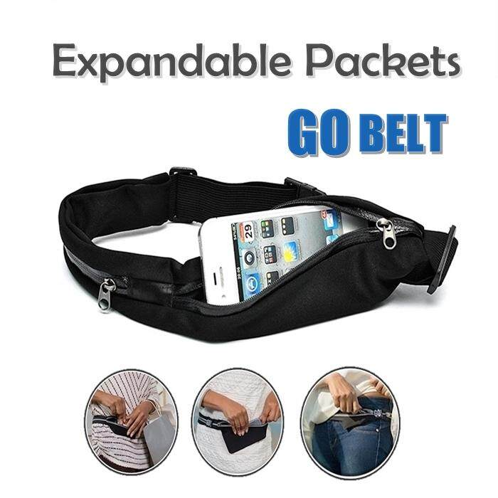 Expandable Waist Packets Running Belt Jogging Tali Pinggang By Damias Resources (m) Sdn Bhd.