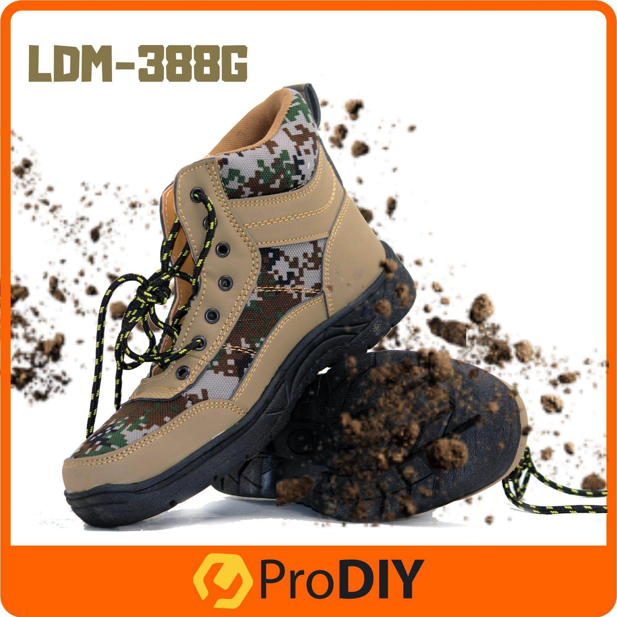 SAFETY SHOES UNISEX FASHION MEDIUM CUT SNEAKERS (LDM-388G) Comfortable For Heavy Duty Army Green