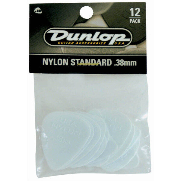 Jim Dunlop Guitar Pick 44P.38 .38mm Nylon Standard , 12-Pack Malaysia