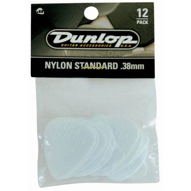 Jim Dunlop Guitar Pick 44P.38 .38mm Nylon Standard , 12-Pack Malaysia