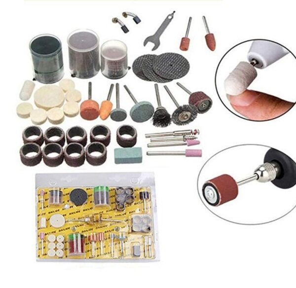 105Pcs Mini Electric Drill Grinder Rotary Tool Grinding Polishing Set