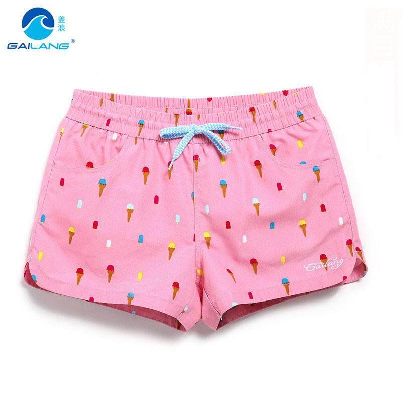 b4b84b523b Gailang Ladies Summer Beach Pants Seaside Holiday Quick-drying Swim Trunks  Ice Cream Pattern Loose Beach Shorts S-XL