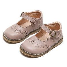 Bốt Kio cho bé gái giày búp bê bằng da cho bé gái Giày xăng-đan đi tiệc kiểu Anh cho em bé sơ sinh