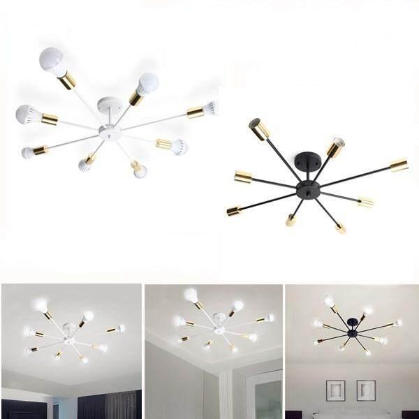 【Free Pengiriman + Flash Deal】 Minimalis Retro Lampu Antik 8 Kepala Industri Edison Bohlam