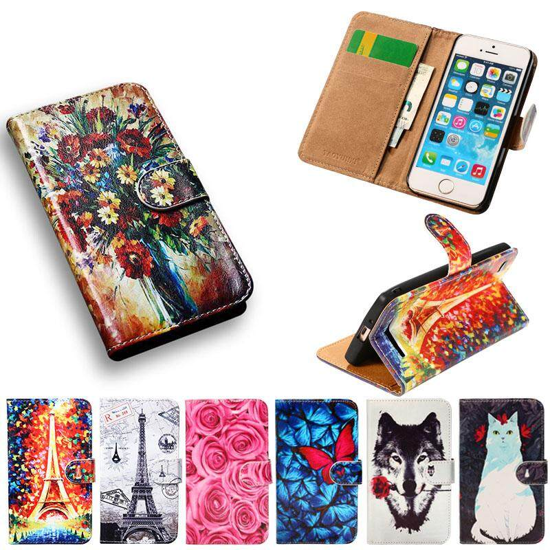 Painted Leather Phone Case For Htc Desire 626 628 A32 626w 626d 626g 626s Htc Desire 650(2016)single Sim Taiwan Version 5.0 Inch 326g Covers Wallet Filp Phone Cases With Card Slot.