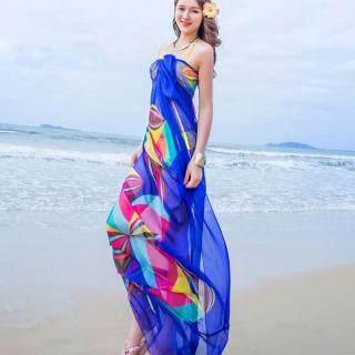 Khăn Voan Nữ Đi Biển Mùa Hè Sarongs Đồ Bơi Thiết Kế Hình Học Váy Che Ngoại Cỡ thumbnail