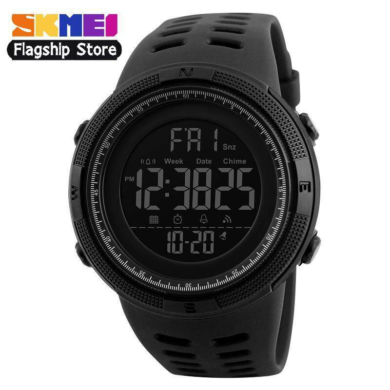 2b041a4ce New SKMEI 1251 Men Sports Watches 50M Waterproof Watches Countdown Double  Time Watch Alarm Chrono Digital