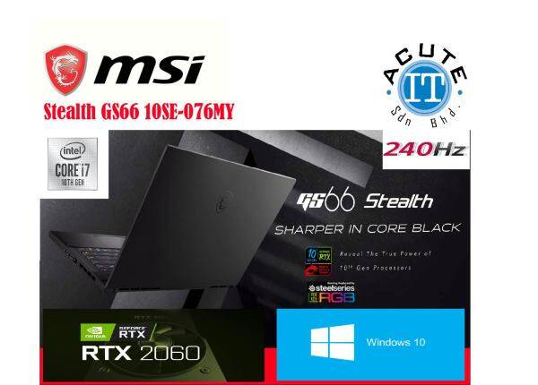 MSI Stealth GS66 10SE-076MY Malaysia
