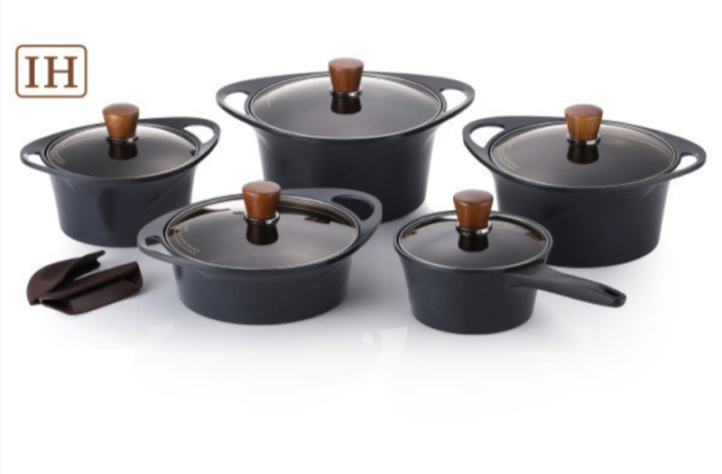 Happycall Non Stick Coating IH Induction Pot Black Edition 6 Types Singapore