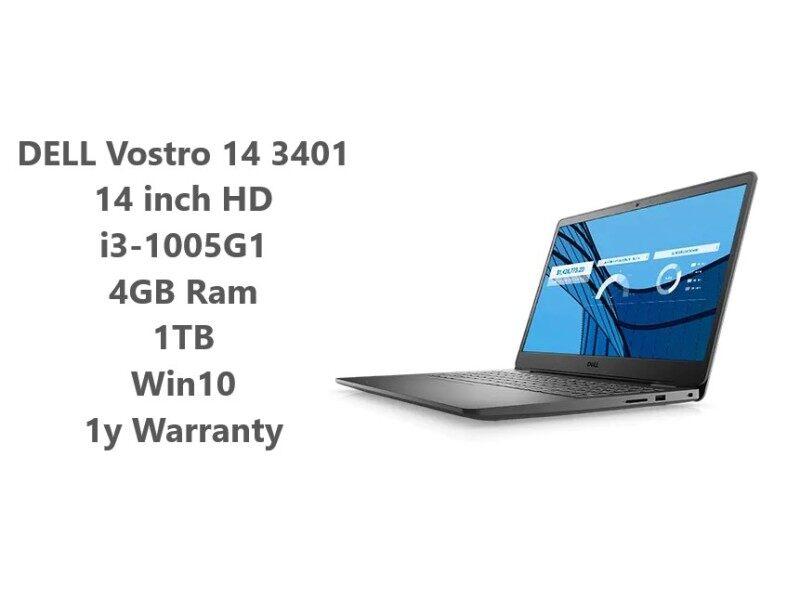 DELL Vostro 14 3401 Laptop / i3-1005G1 / 4GBDDR4 / 1TB / Win Pro10 / 1y Warranty Malaysia