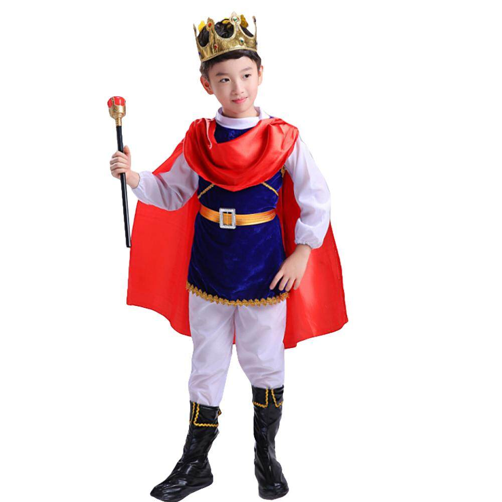 Kids Boys Pirate Role Play Costume Set Child Halloween Prince Crown Charming Costume Cosplay Party King Outfits