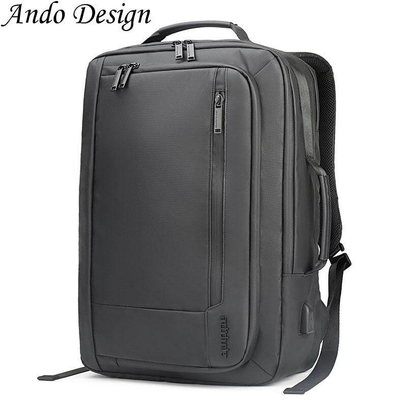 Men 17 Inch Backpack Large Capacity Waterproof Breathable School Business Laptop Bag Fashion Casual Travel Office Multi-Functional