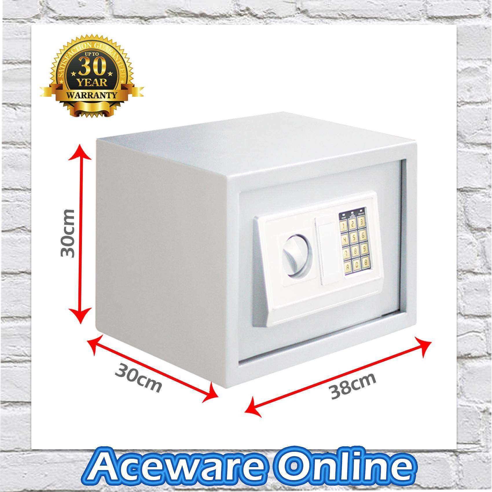 8.5KG Large 38cm Fit A4 Size Safety Box Safe Box Burglary Safe Box Anti-Theft Box (White)