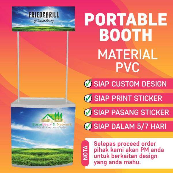 [ MURAH GILER ] PVC Portable Booth, Promotion Counter, Sampling Kiosk + DESIGN