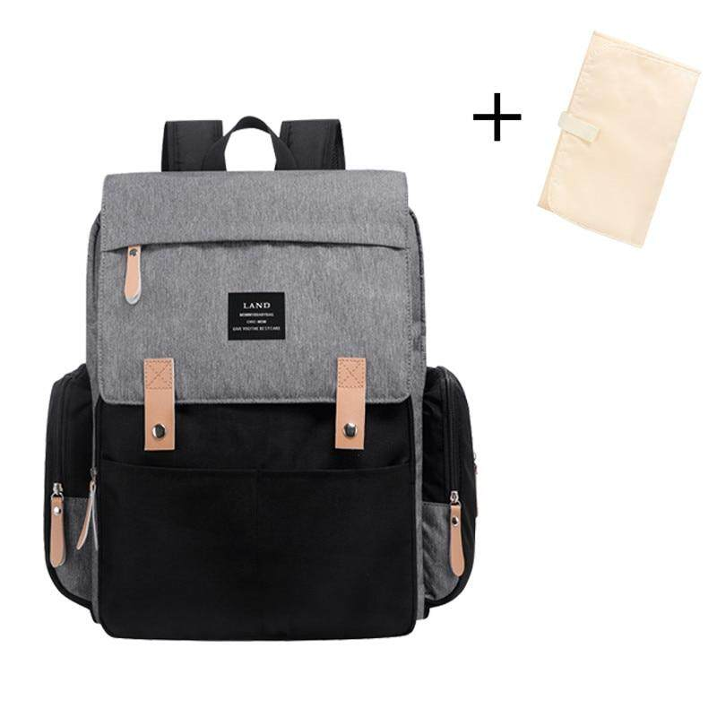 High Quality Land Large Capacity Diaper Bag Fashion Travel Backpack for Mom and Dad Solid Mummy Bags Stroller Organizer Bag for Baby Care