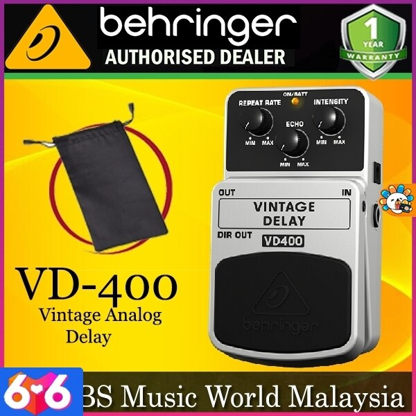 Behringer VD-400 Vintage Analog Delay Effects Pedal (VD400 VD 400) Malaysia
