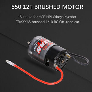 550 12T Brushed Motor for 1 10 RC Off-road Car HSP HPI Wltoys Kyosho TRAXXAS thumbnail