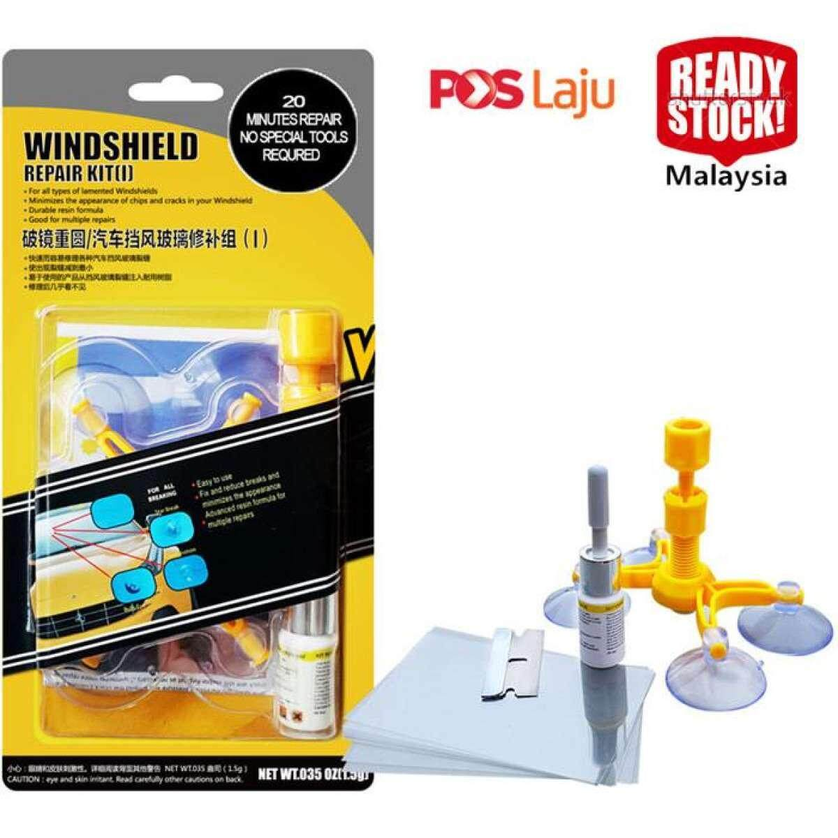 *ready Stock* Windshield Repair Kits Car Window Repair Tools Windshield Windscreen Repair Kits By Fly Automart.