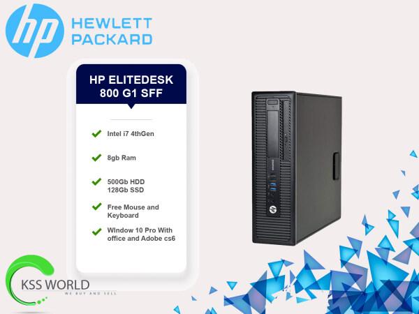 Hp Elitedesk Intel i7 - 4thGen / 8gb Ram / 128GB SSD / 500GB SSD / window 10 pro Malaysia