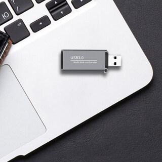 Đầu Đọc Thẻ Nhớ Burnelle Đầu Đọc Thẻ USB 3.0 Nhỏ Truyền Tải Dung Lượng Lớn Tương Thích Rộng Thẻ Kép Micro-SD TF Cho Máy Tính Xách Tay Máy Tính Xách Tay, Hỗ Trợ Đọc Đồng Thời Và Truyền Dữ Liệu thumbnail