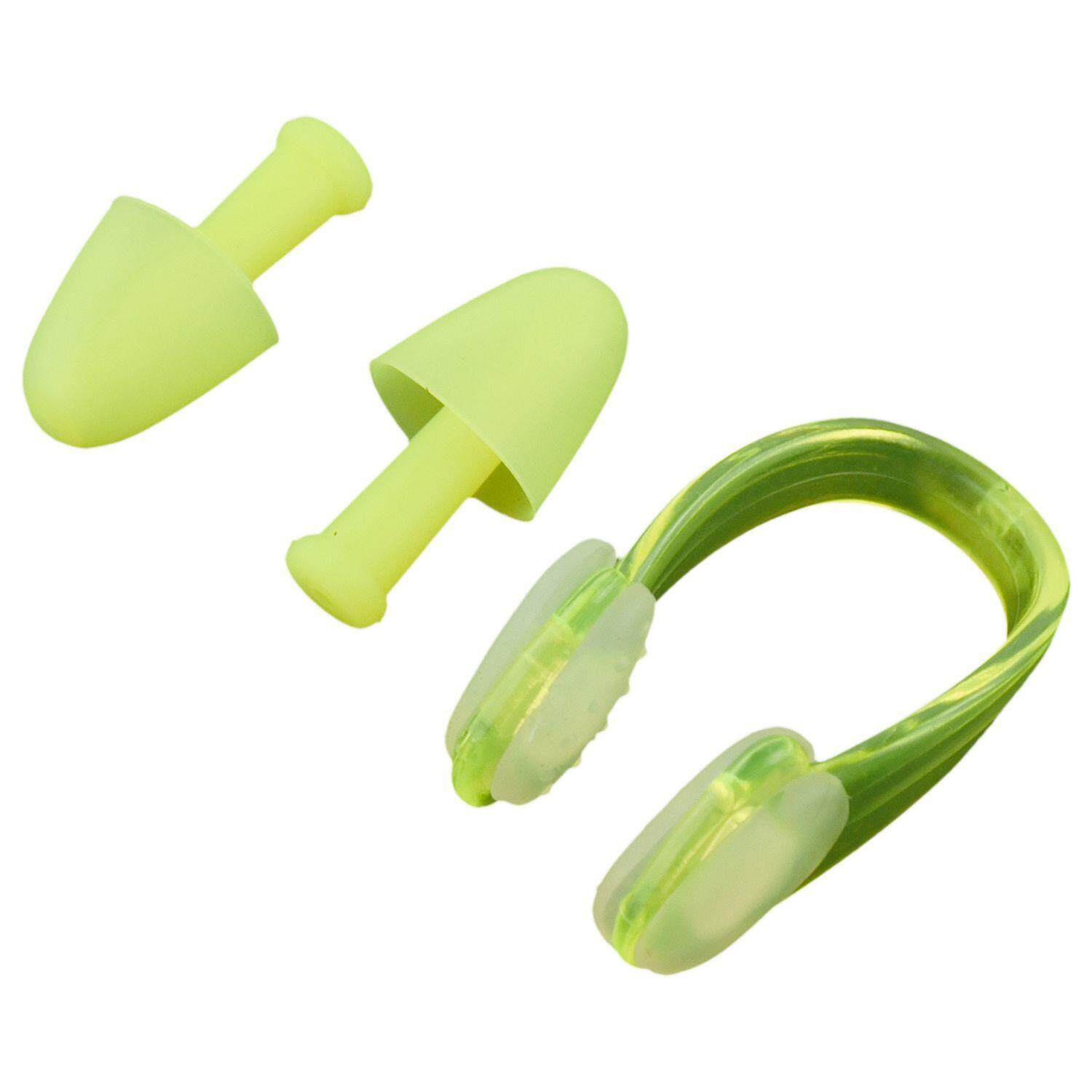 Soft Silicone Swimmer Swimming Protector Earplugs Nose Clip Yellow With Case By Lefueletronic.