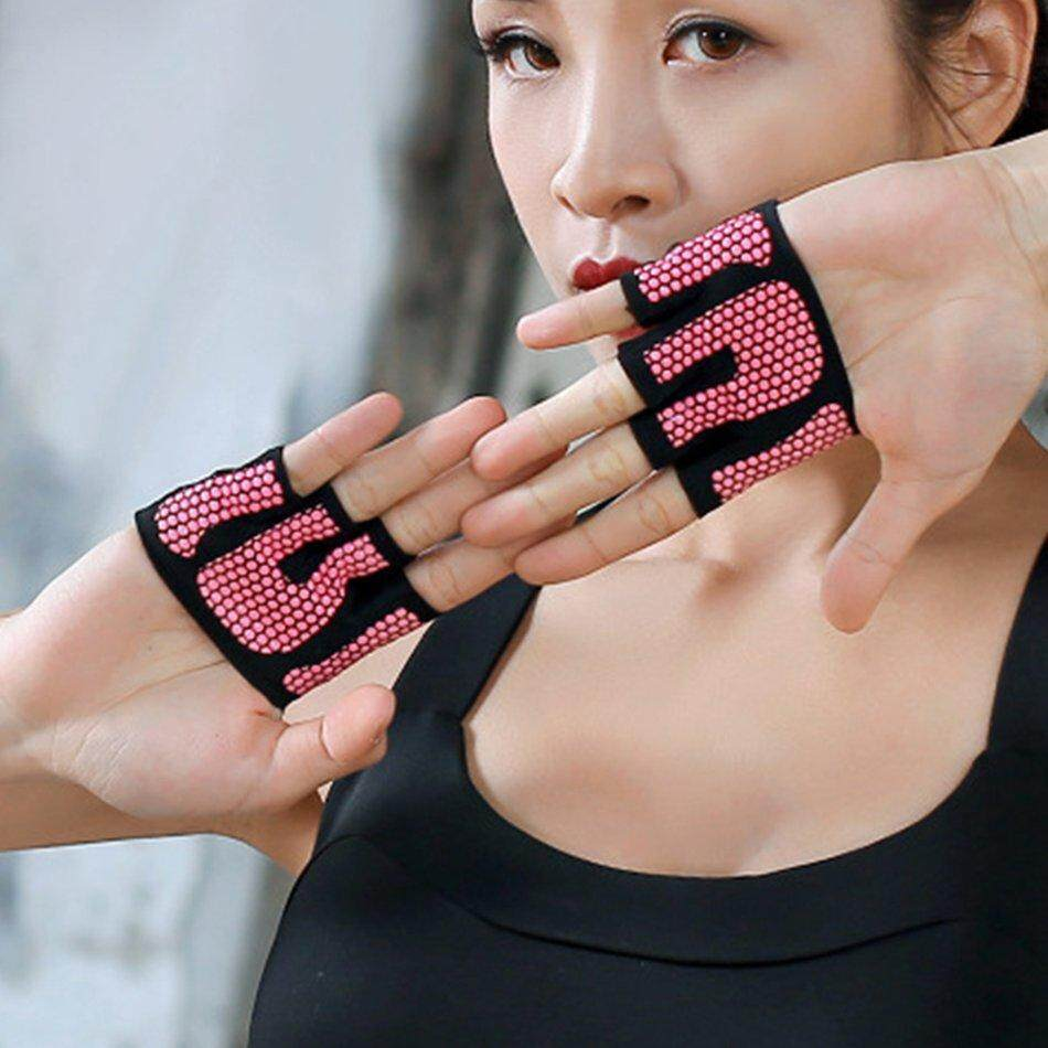 Best Deals Anti-Skid Men Women Sports Fitness Training Gym Crossfit Four Fingers Gloves By Makeacall.