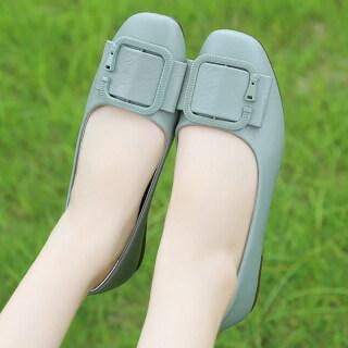 Los Boutique Giày búp bê nữ, dáng thuyền, mũi tròn, chất liệu đế polyurethane, màu trơn đơn giản, phong cách Hàn Quốc, giá tốt - INTL thumbnail